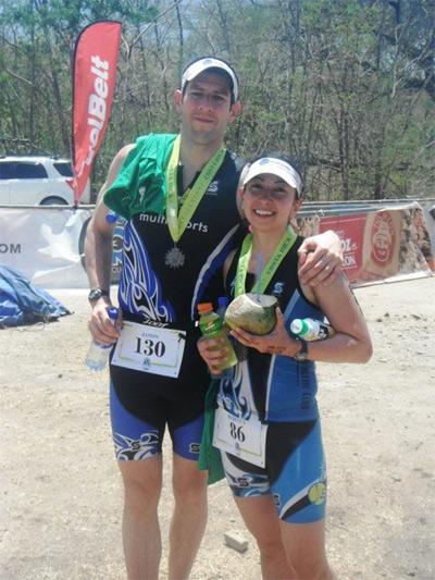 Jason Arango and Rebecca Kelley